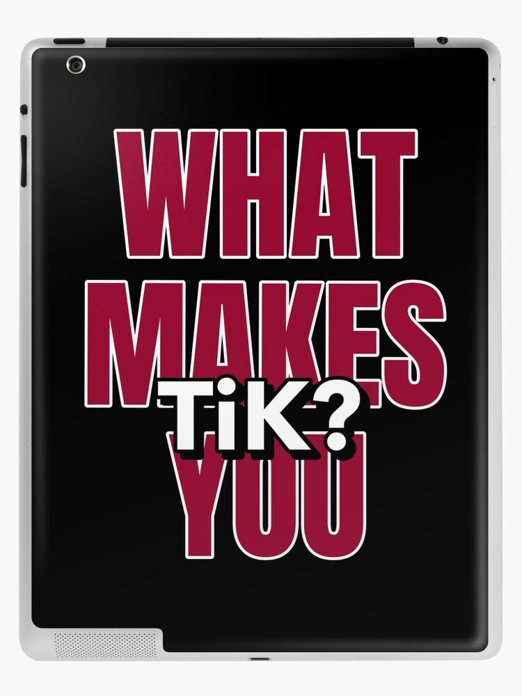 What Makes You Tik Tiktok Tik Tok Ipad Retina 3 2 Skin By Ruftup How To Make Make It Yourself Christmas Presents For Him