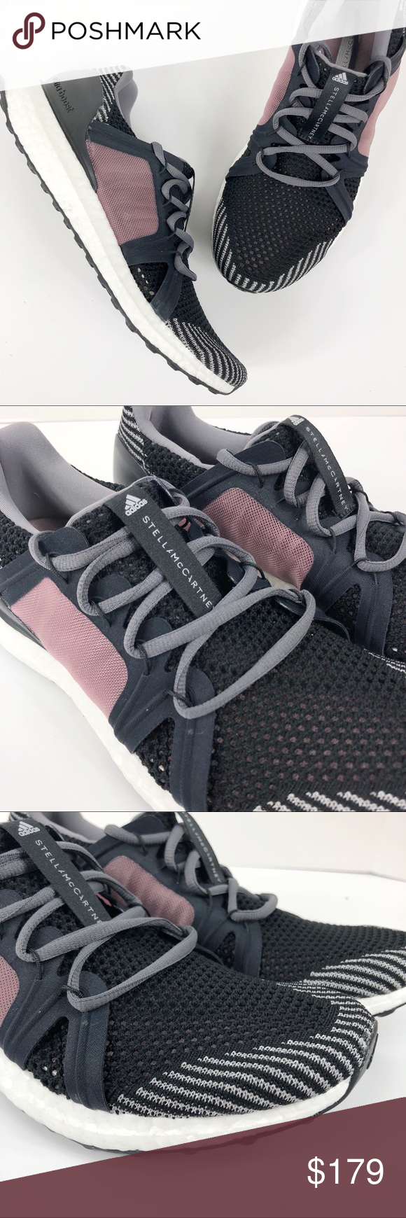 sports shoes 414c6 a4dea Womans in black, pink with mesh boost foam padding. Style  AQ0796 with  box Adidas by Stella McCartney Shoes Sneakers