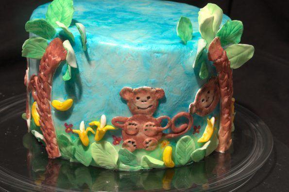 Photo of Affenkuchen mit Schokolade und Banane, Pinata Kuchen. Für Kindergeburtstag, Ein…