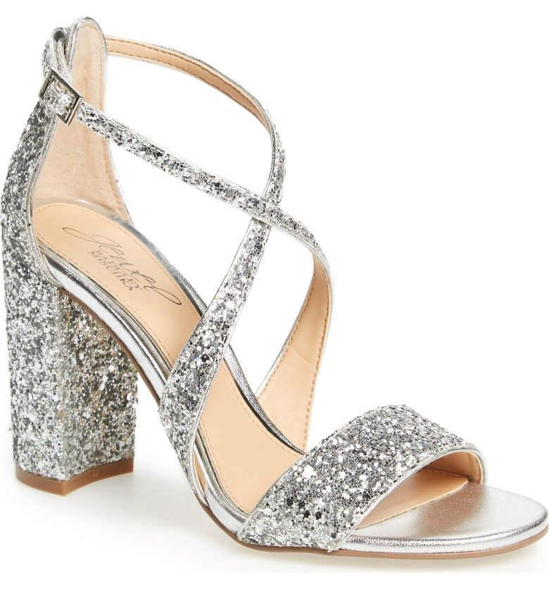 782a8fb75656 Cook Block Heel Glitter Sandal. Wedding ShoppingBadgley MischkaGlitter  SandalsProm ShoesBlock ...