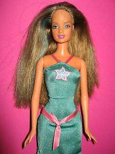 Alte Barbie Teresa Mattel 1990 Braune Haare Mit Grunen Strahnen Im