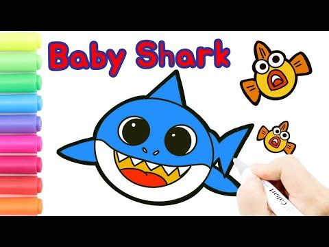 Coloring Baby Shark Pinkfong Coloring Pages|How to draw ...