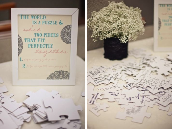 Guest Book Alternative:  Puzzle.  Read the messages while putting the puzzle together!