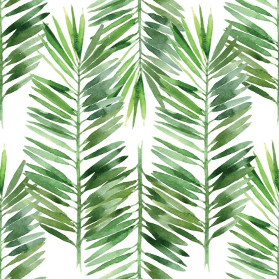 Watercolor Palm Tree Leaf Pattern Wallpaper Palm Tree Leaves