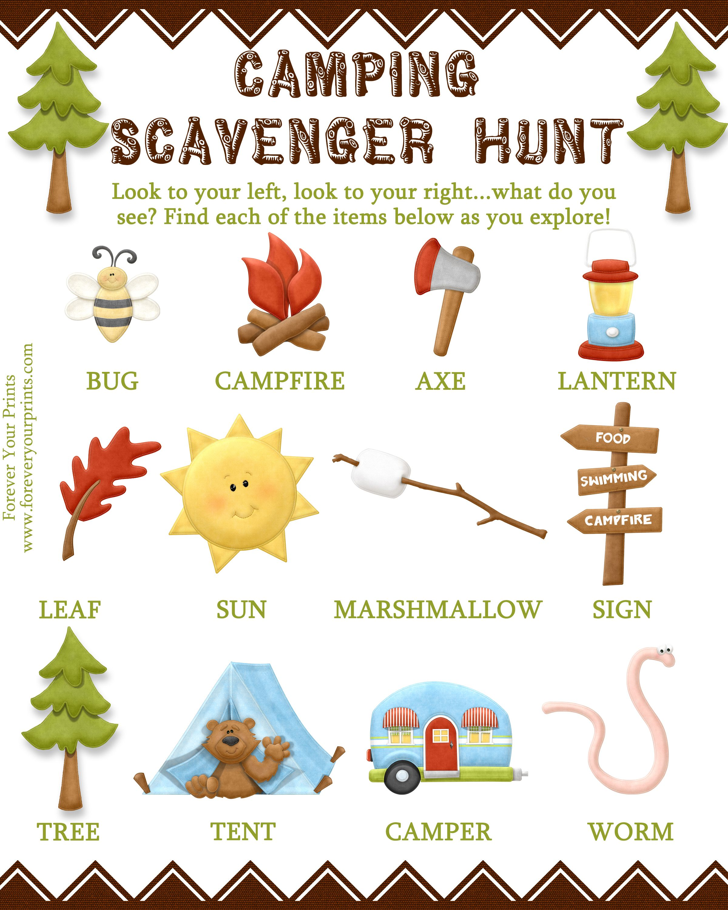 Camping Scavenger Hunt Idea Visit The Image Link For