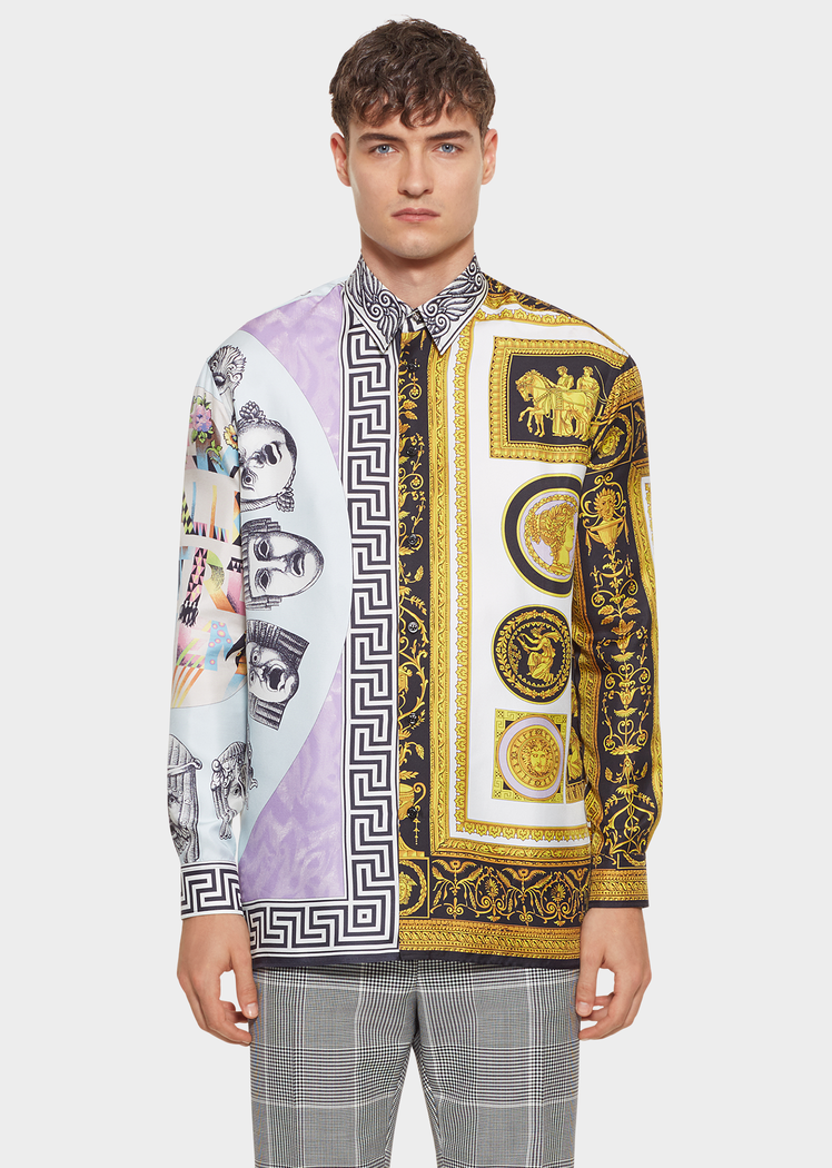 48b120fd Cornici Balletto Print Silk Shirt - Versace Shirts | yay collection ...