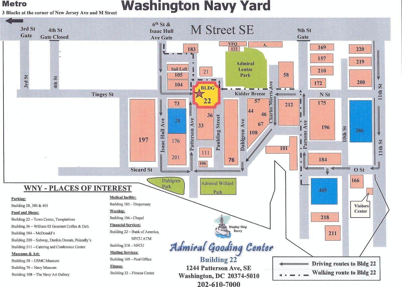 Navy Yard Map
