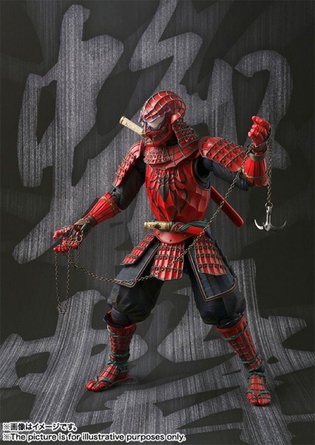 Bandai Tamashii Nation Samurai Manga Realization Black Suit Spider-Man IN STOCK