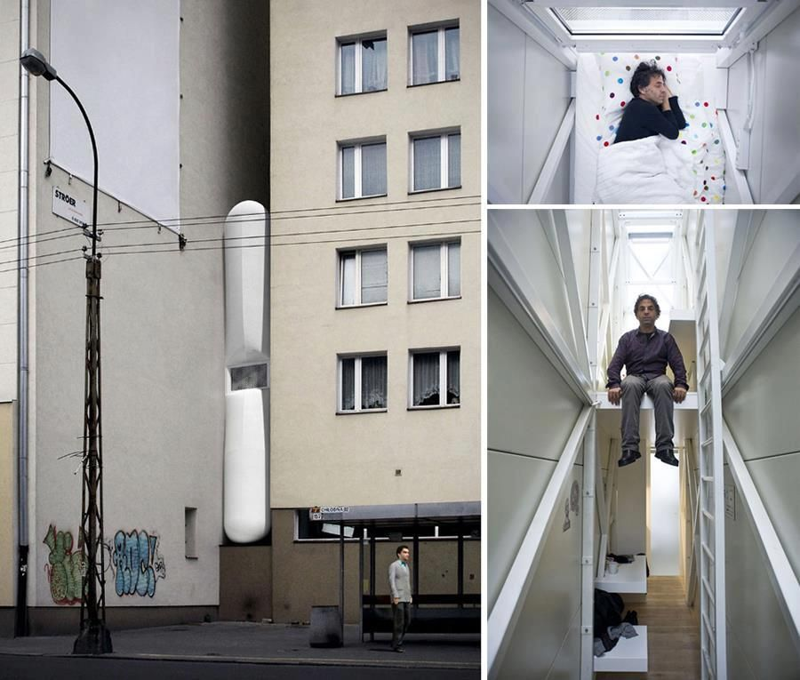 The Narrowest House In The World Is In Warsaw Poland It S Width Ranges From 92 To 152 Centimeters Narrow House Unusual Homes Houses In Poland