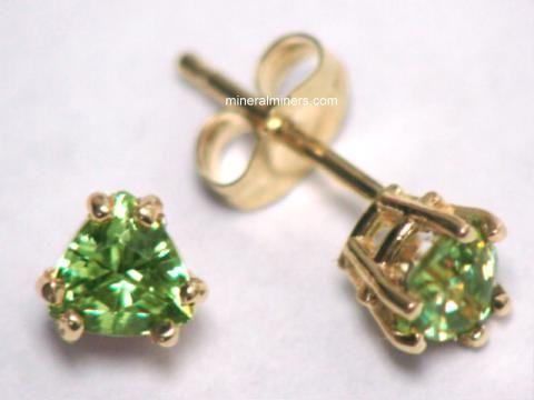 Demantoid Garnet Jewelry Earrings And Pendants