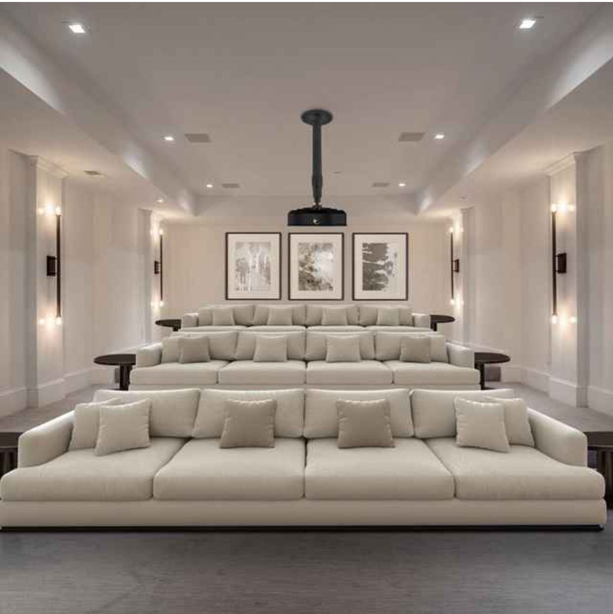 Olsberg 3 Piece Sectional Steel Furniture Sectional Sofa 3