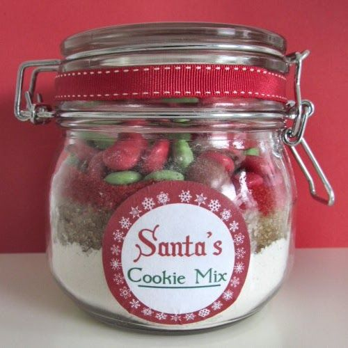 A Typical English Home Santa Cookie Mix In Jar Recipe