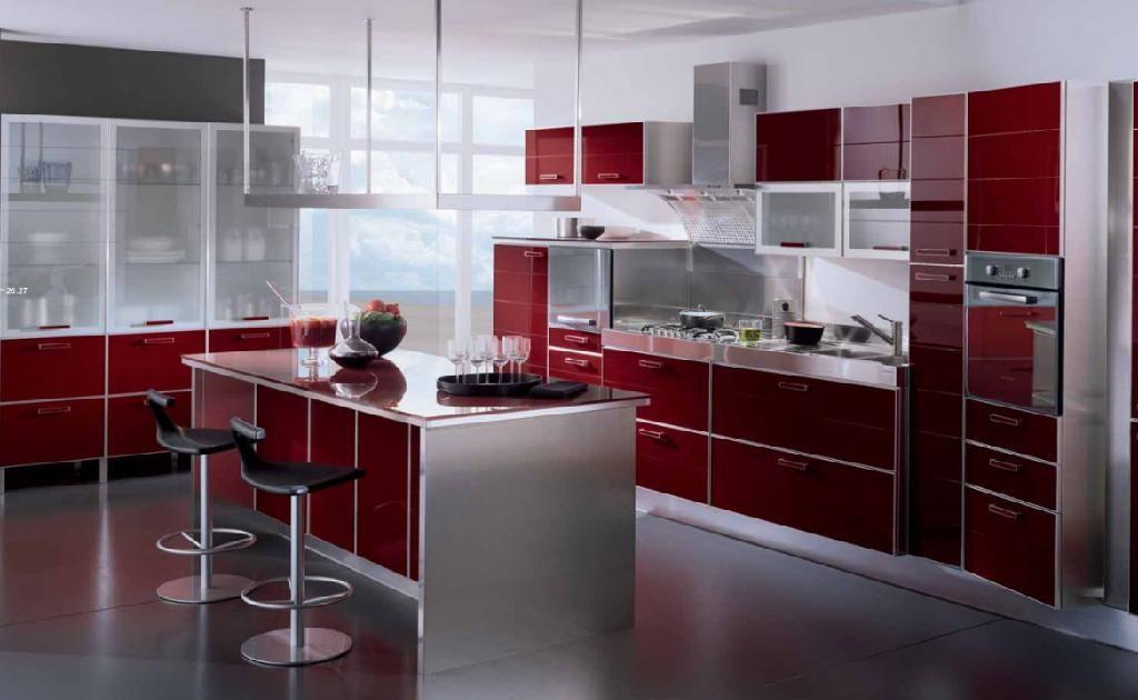 En rojo | kitchen en 2019 | Interior design kitchen, Kitchen design ...