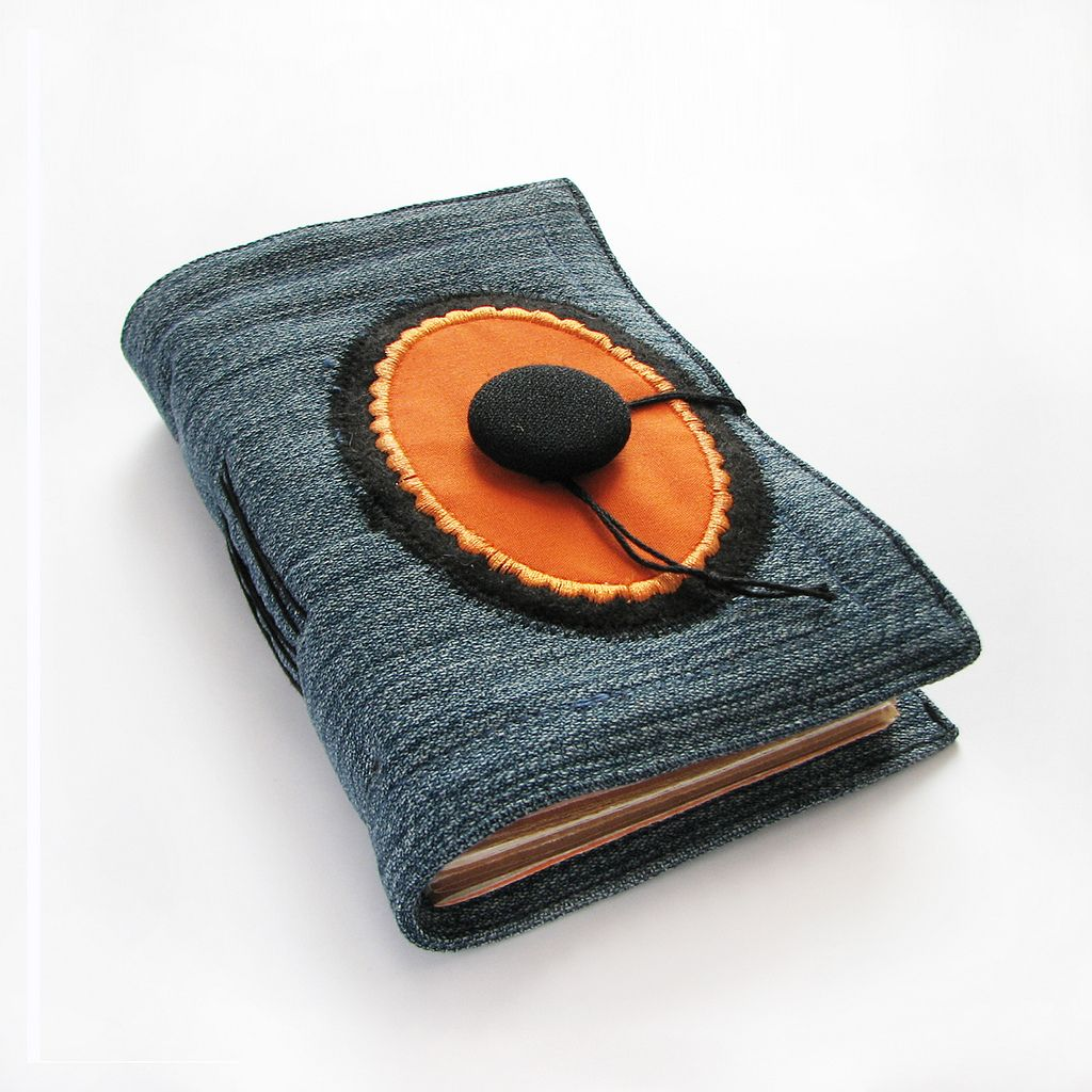 Handmade Journal With Oval Applique