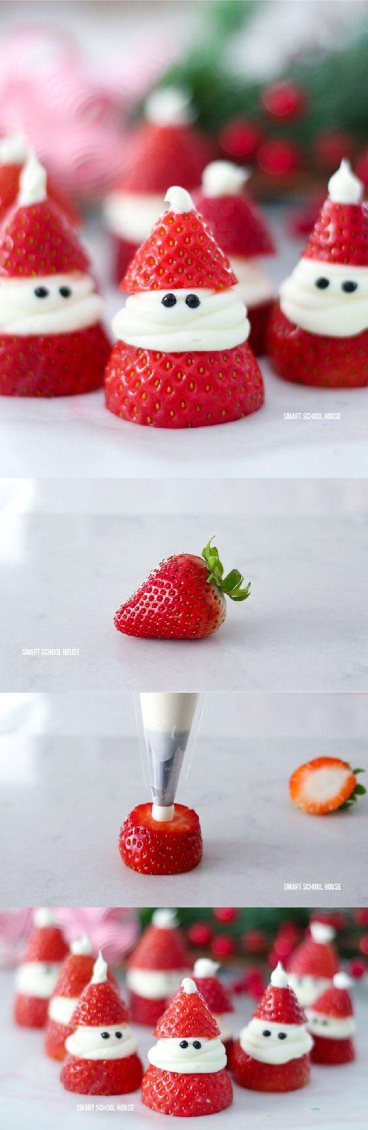 3ingredient Strawberry Santas for Christmas 19