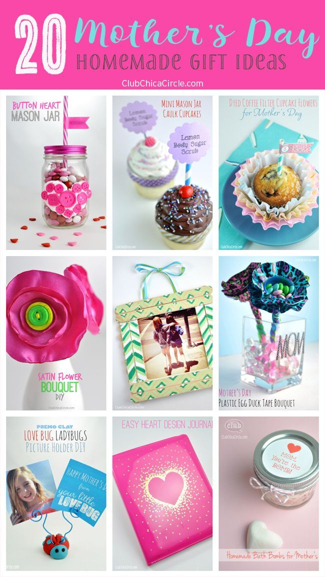 20 Mother S Day Homemade Gift Ideas Easy Homemade Gifts