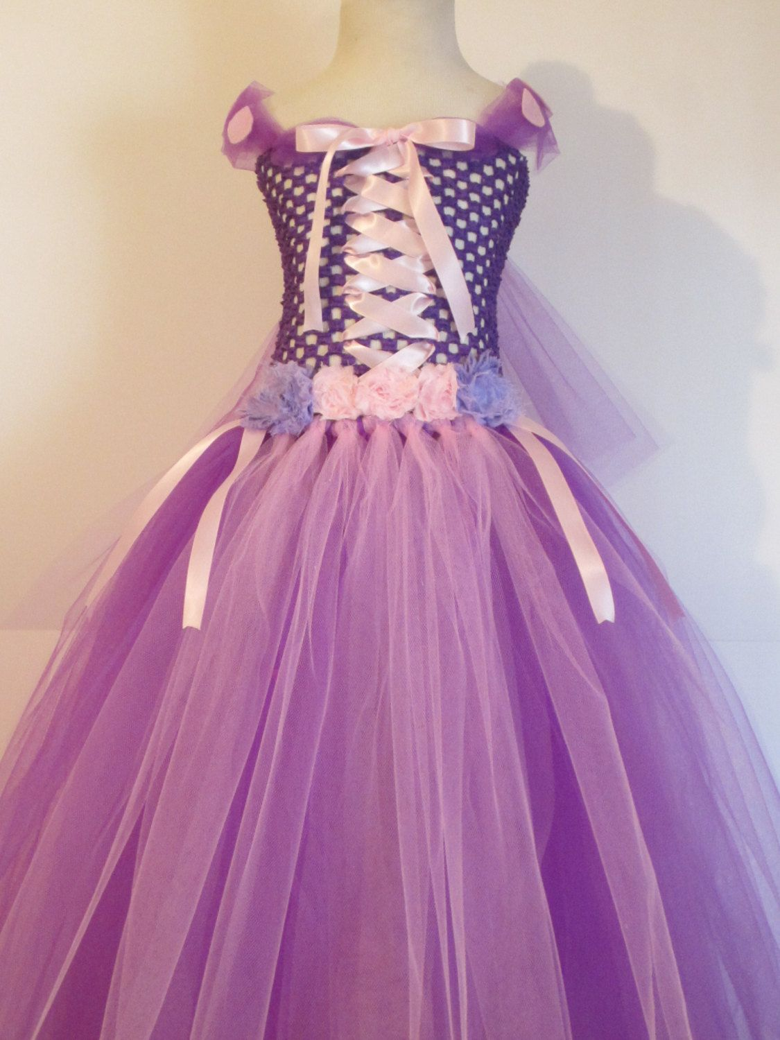 Tutu Dress Rapunzel Costume Full Length Baby by AmericanBlossoms ...