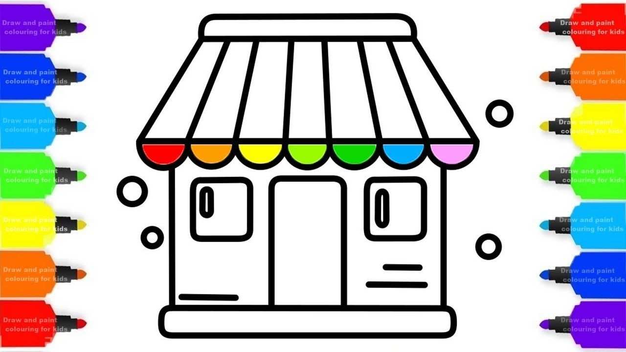 House Drawing For Kids Home Coloring Pages For Childrens House Drawing For Kids Drawing For Kids Drawings