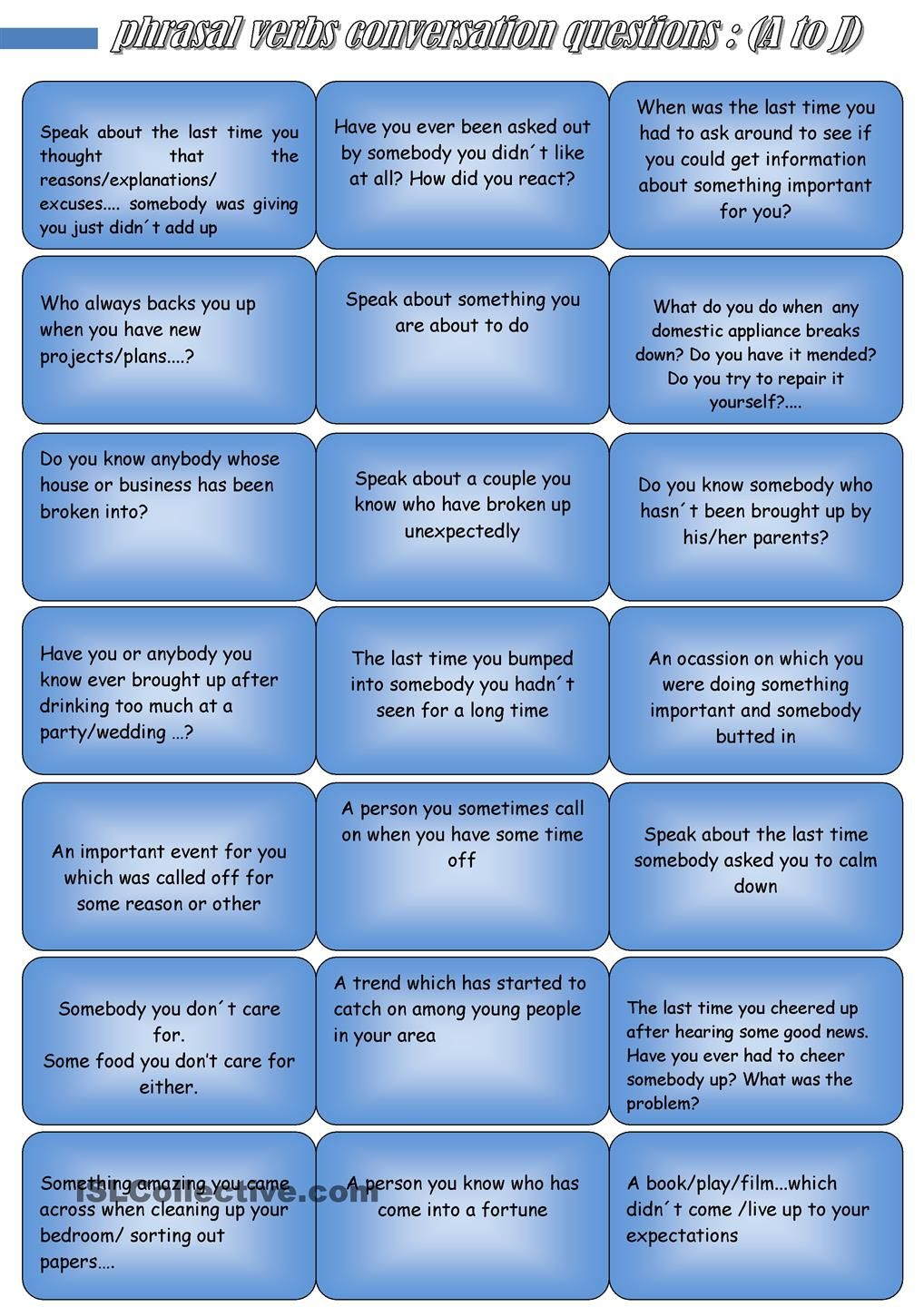 Phrasal Verbs Conversation Questions A To J This Or That Questions Conversation Questions Best Free Dating Sites [ 1440 x 1018 Pixel ]