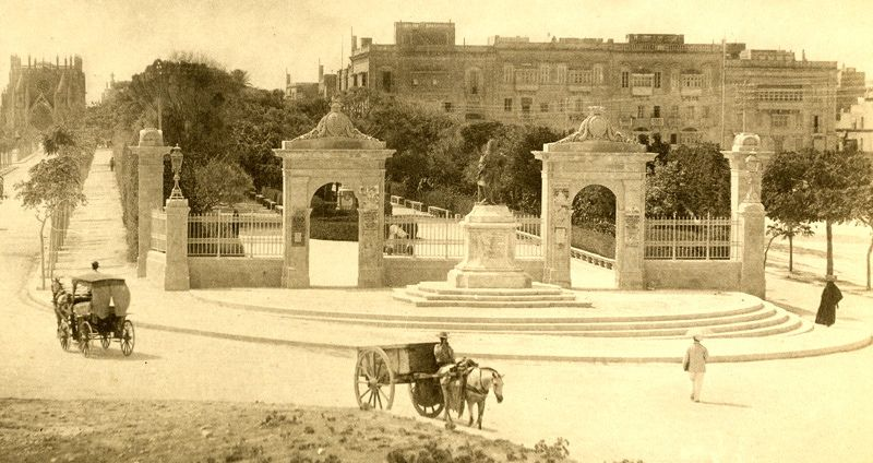 Mall at Floriana Malta circa 1890s (With images) | Malta history ...
