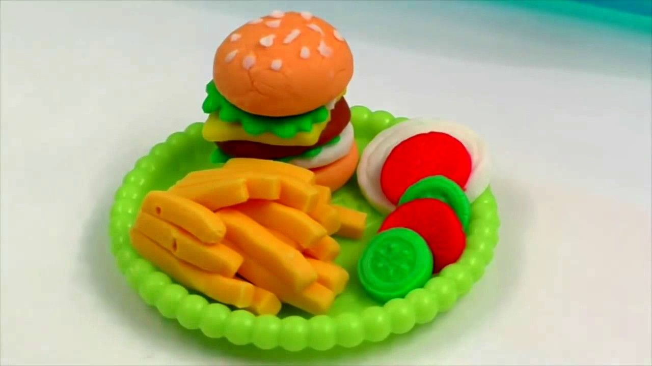 Play Doh Küche Youtube Play Doh Burger Hamburger Baby Cooking Toys Baby Kitchen Play Doh