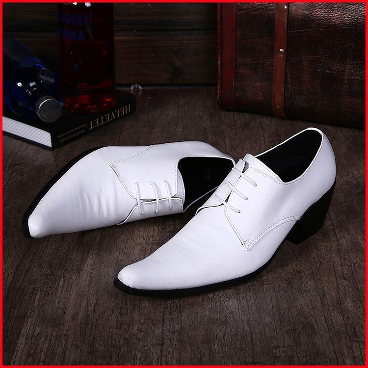 Zapatos blancos formales para hombre extGg