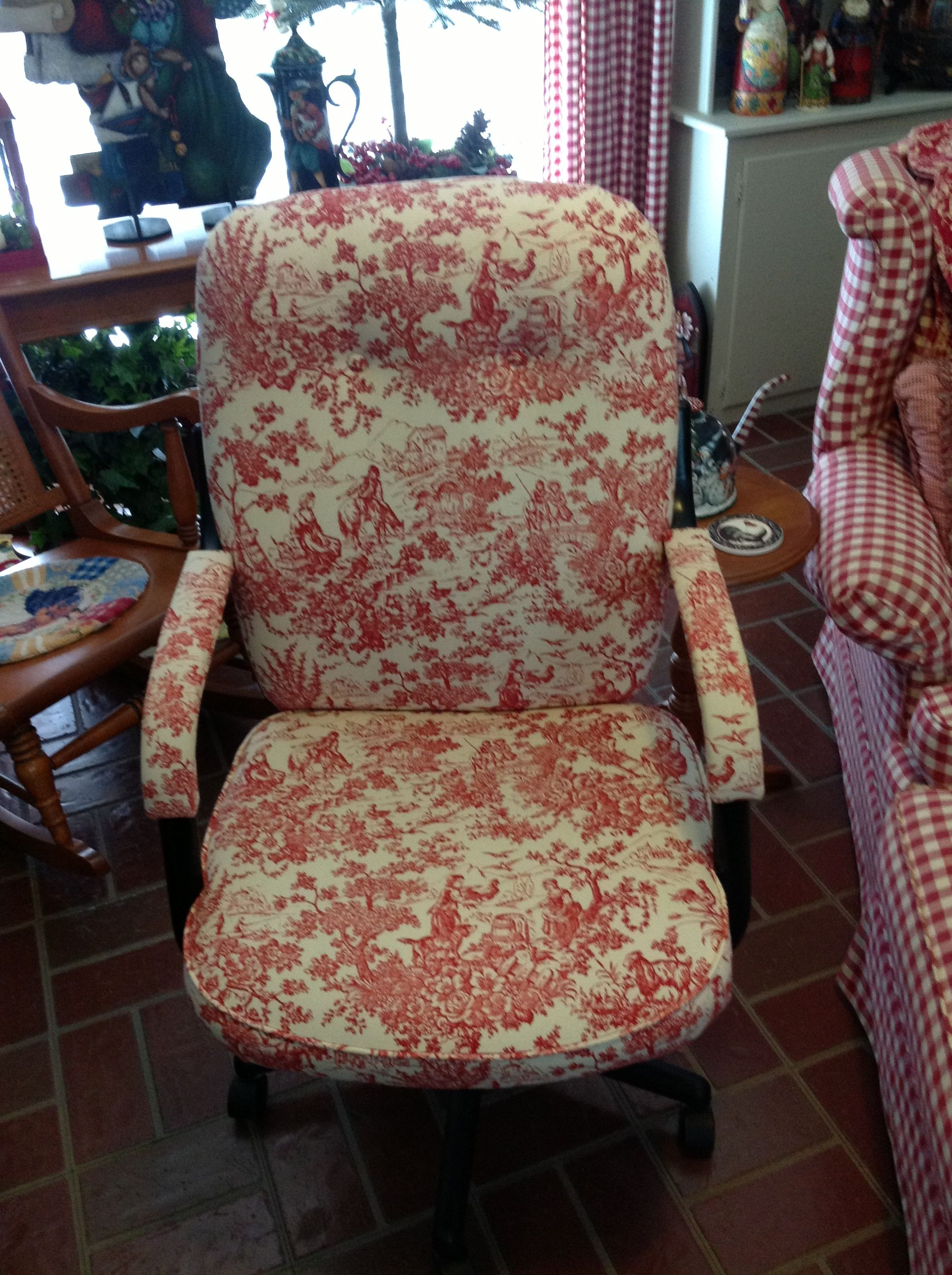 My Old Office Chair That Was Covered With Antique Toile ...