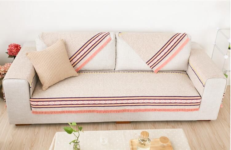 Cotton Sofa Towel Slipcovers Stripped Sectinal Sofa Cover Slip Resistant  Single Seat Double Seat