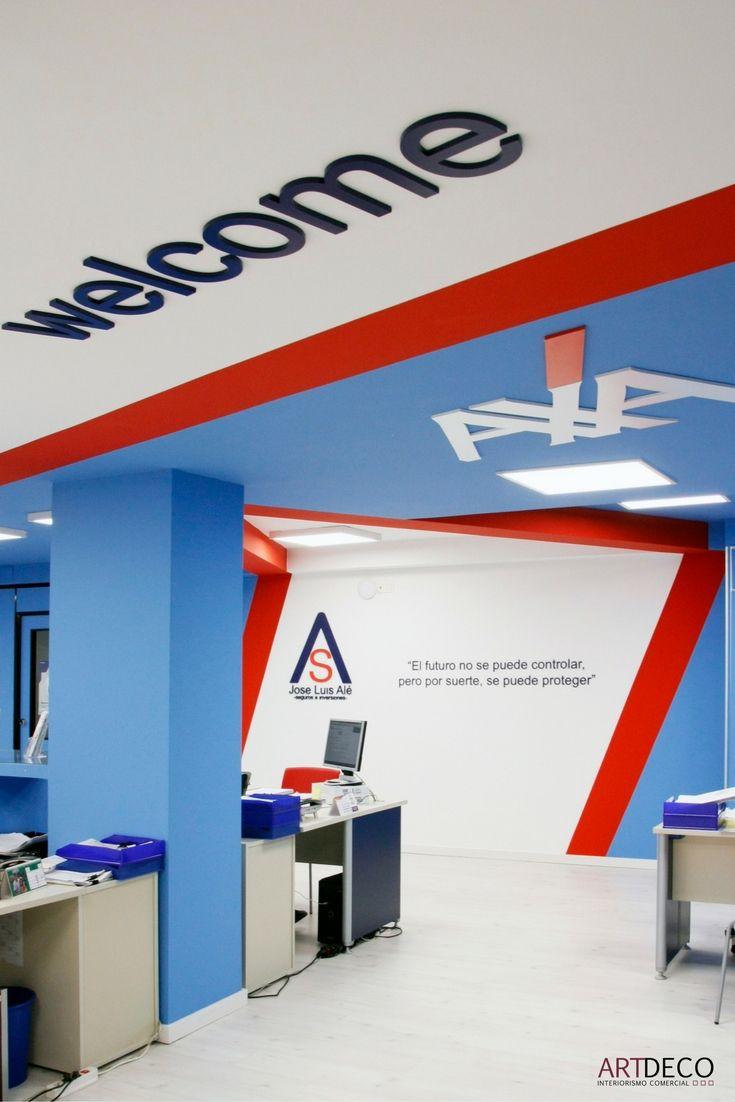 Identidad corporativa de las oficinas axa de jos luis al en castell n axa pinterest - Axa seguros oficinas ...
