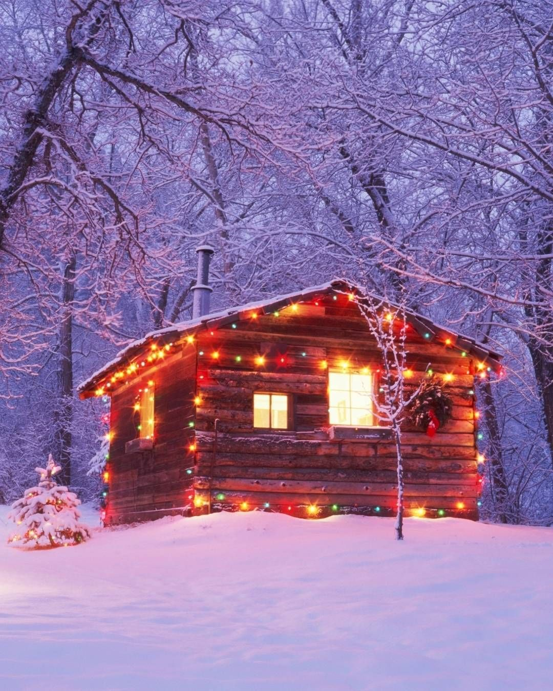 Driving Around To See Christmas Lights Is At The Top Of Our Winter Bucket List Log Cabin ChristmasRustic ExteriorWood