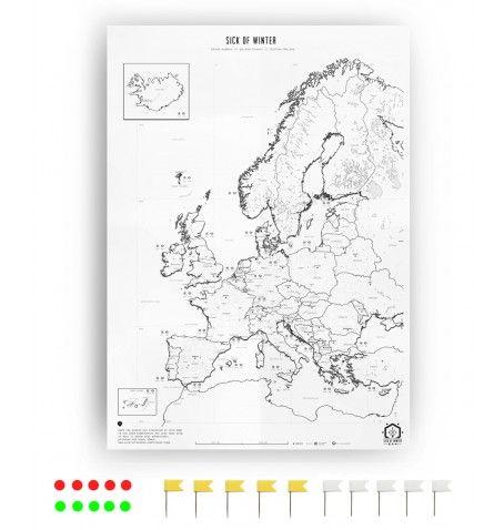 Endlich Eine Schlicht Gestaltete Europakarte Als Poster Zum Selber