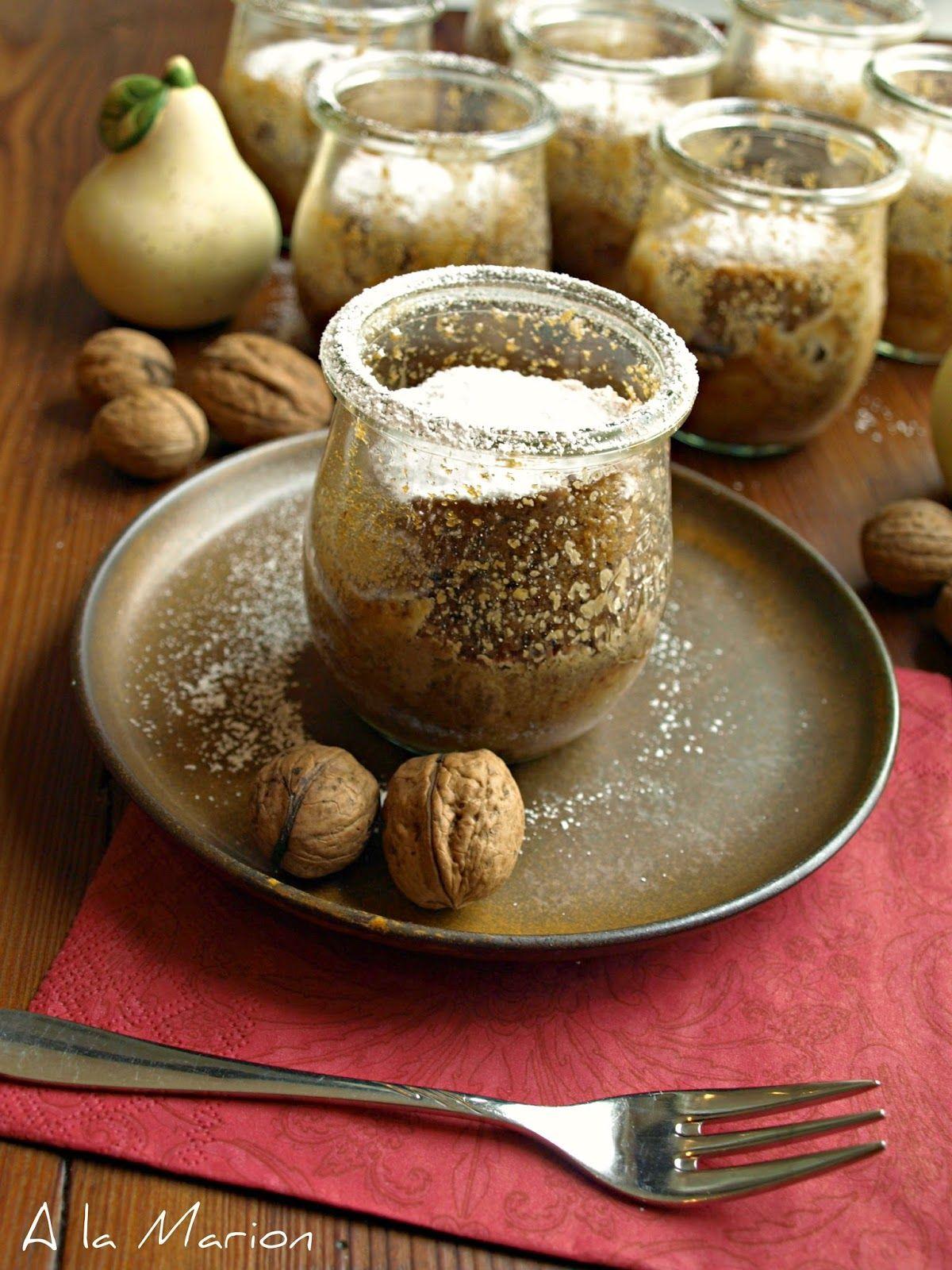 À la Marion : Veganer Birnen-Nuss-Kuchen im Glas