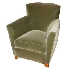 Dominique Mohair Velvet Chair