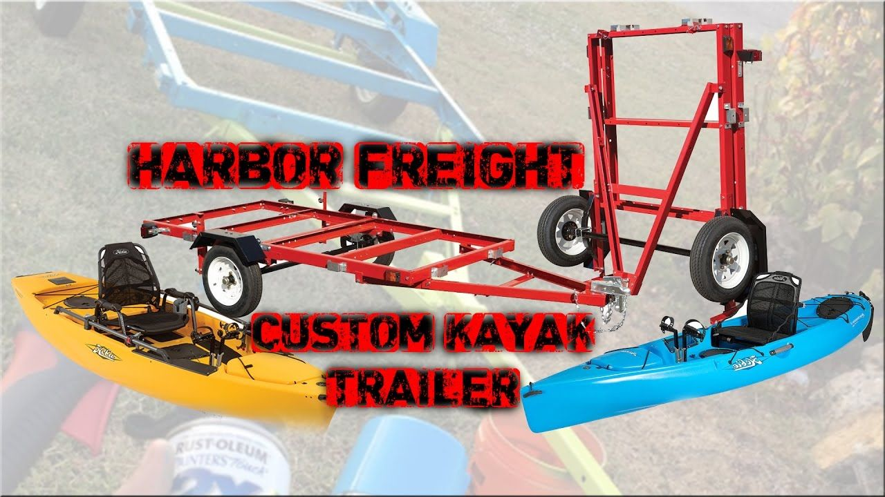 Custom Harbor Freight Kayak Trailer with PVC Bunks PART 1