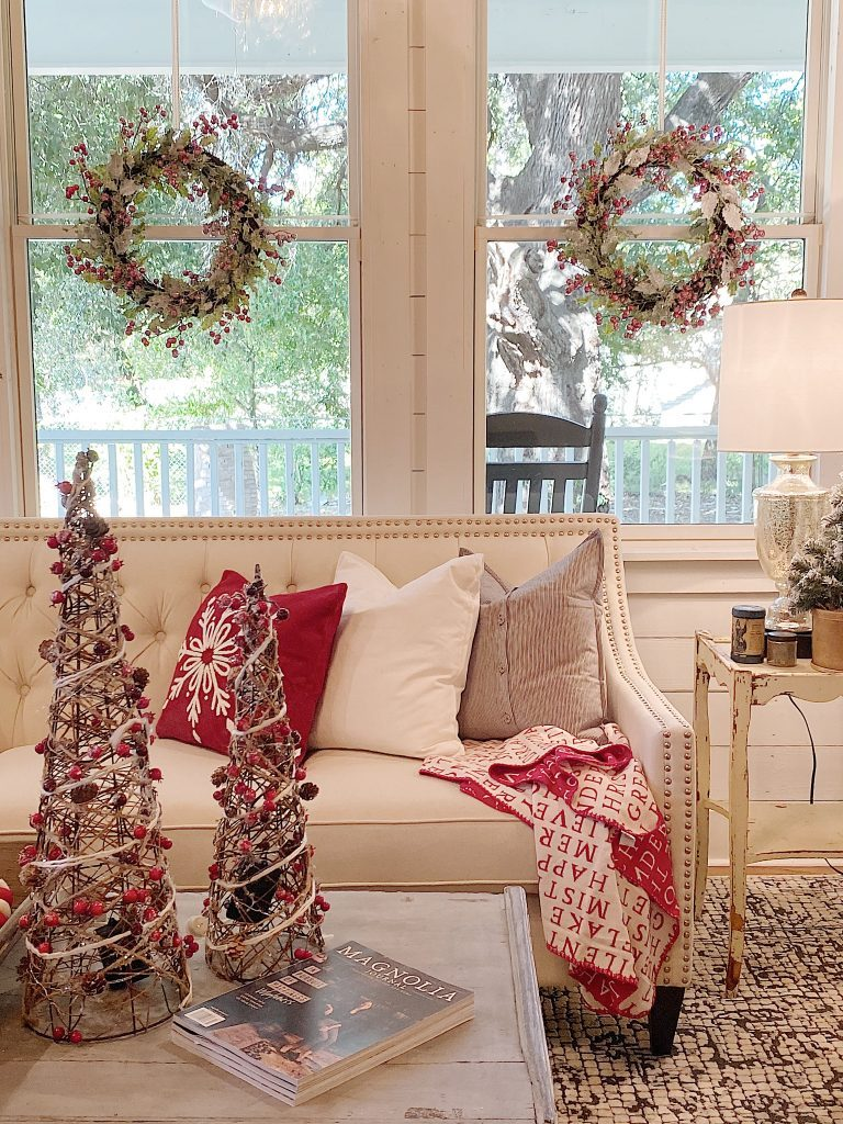 I absolutely love our Waco home decorated for the holidays. I hope you love these Christmas decorating ideas as much as I do.   My 100 Year Old Home #christmas #christmashomedecor #deckthehalls #christmashomedecorations #christmashome #christmasdecorating #christmashome #christmasfarmhouse #christmasdiningroom #farmhouse #frontporch #whitefarmhouse #farmhousestyle #modernfarmhouse #realfarmhouse #myhousebeautiful #hgtv #homesweethome #homedecor #diningroomdecor #my100yearoldhome