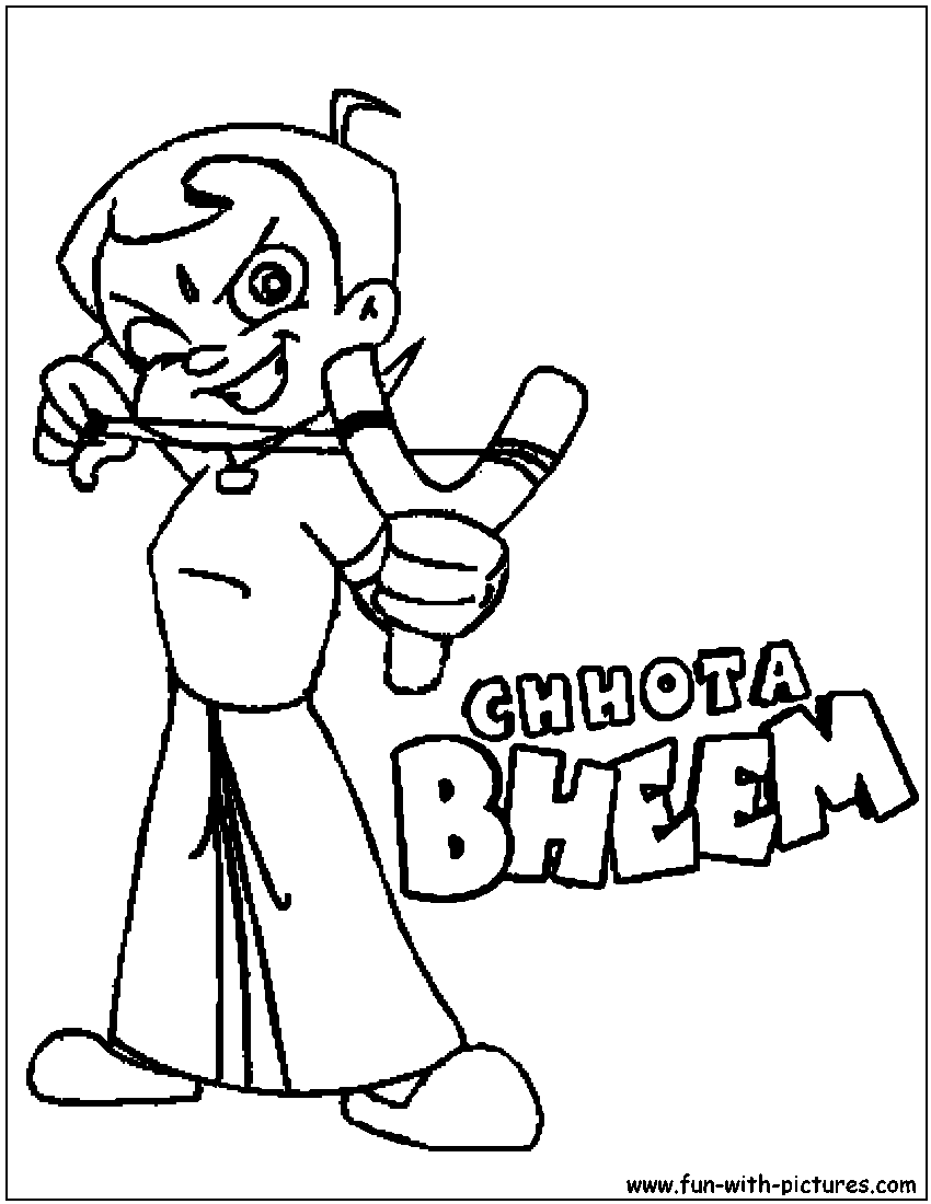 chota bheem team coloring pages - photo#5