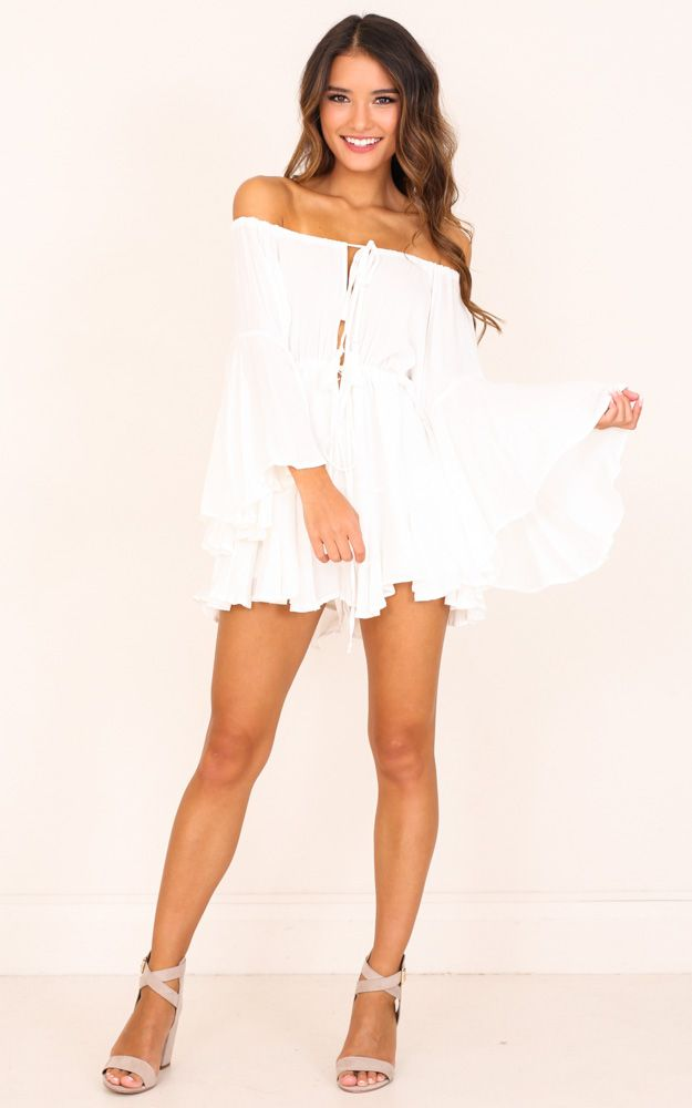 8d3f17854 Montana Playsuit In White Produced | Products | Playsuit, Dresses ...