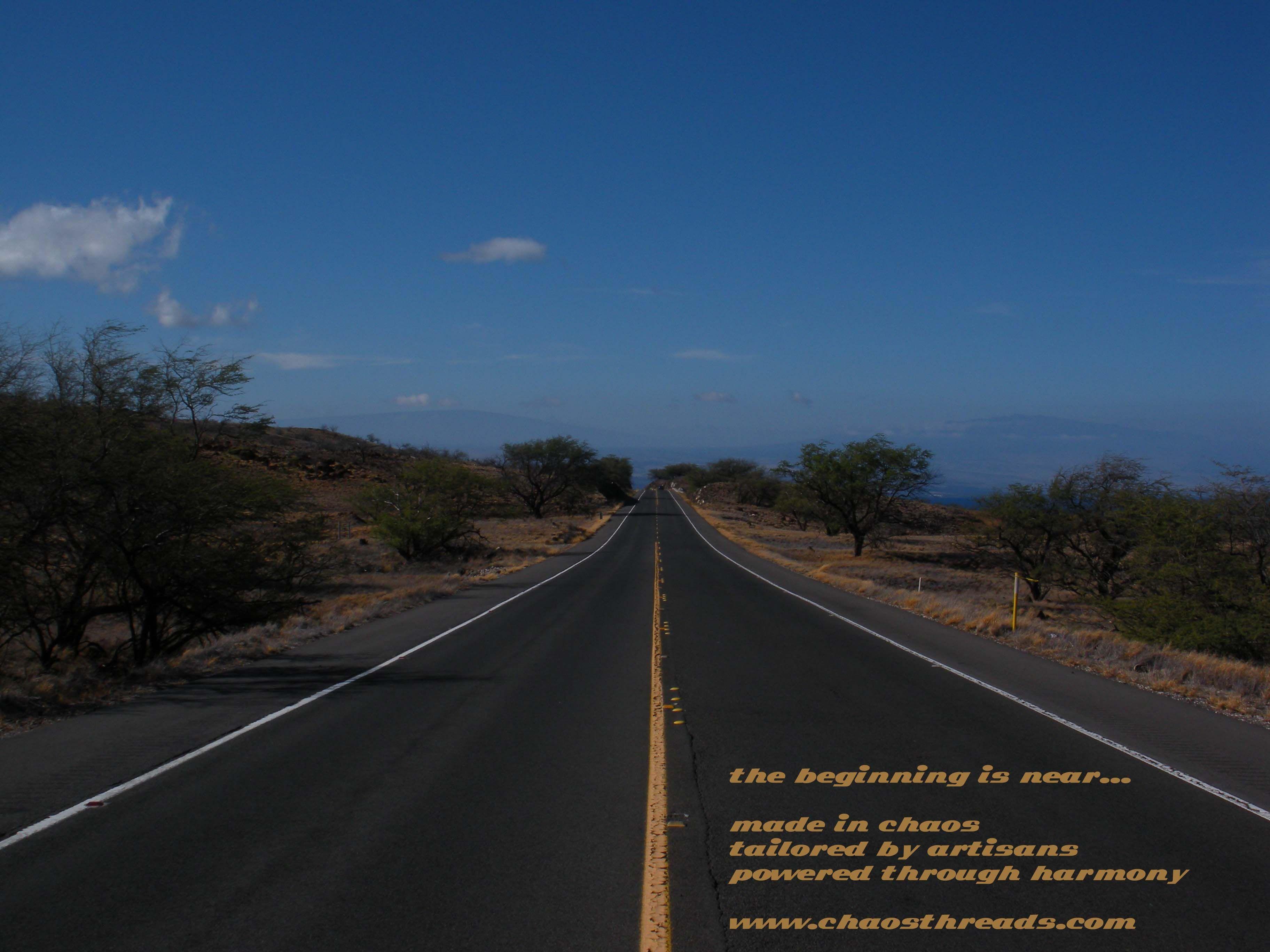on the road. Big Island, Hawaii