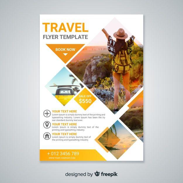 Modèle De Flyer De Voyage Avec Photo | Téléchargez maintenant des vecteurs gratuits sur Freepik