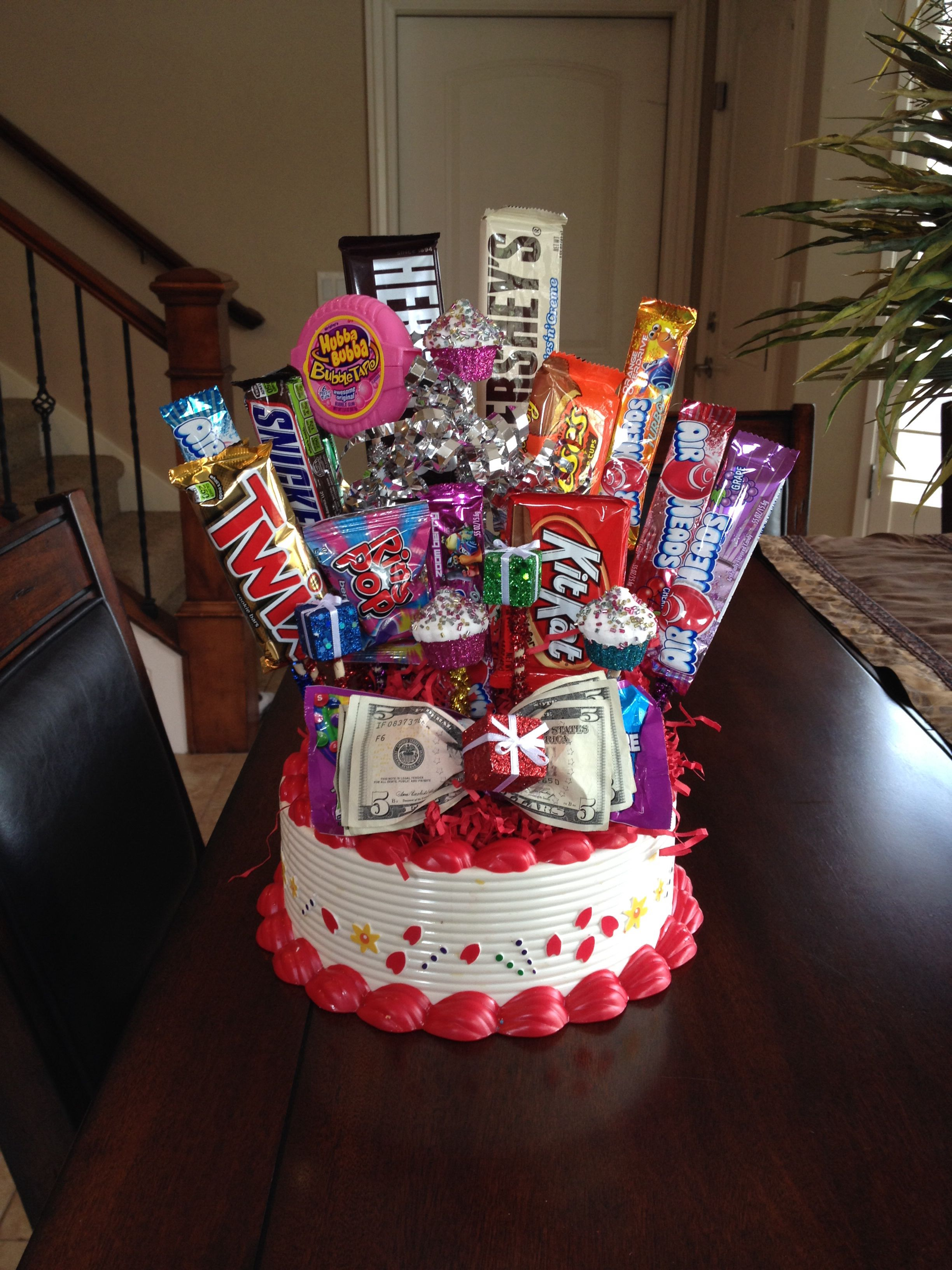 Birthday Candy Bouquet Candy arrangements, Birthday