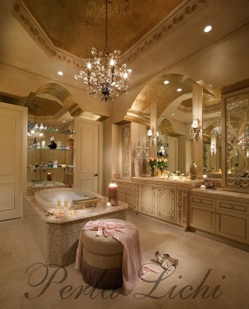 13 Dreamy Bathroom Lighting Ideas: Elegant Dream Bathroom. Girly Things!