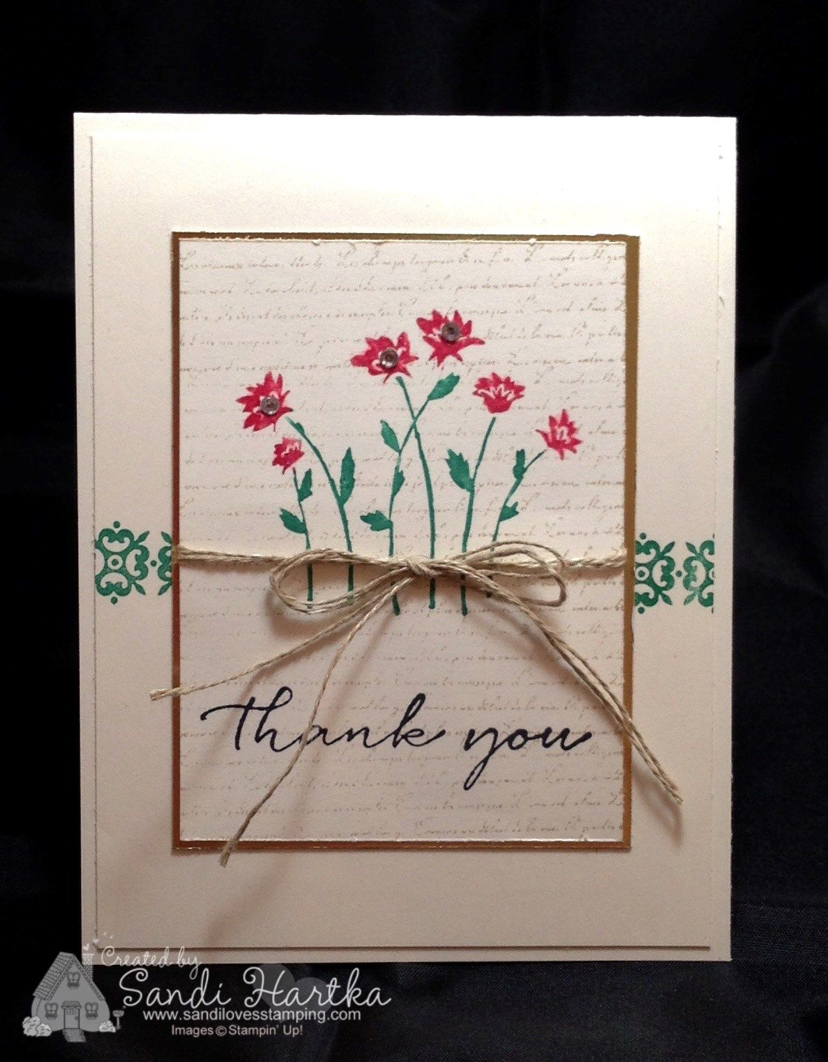 Thank You Card Making Ideas Part - 48: Background Bits, Hostess Set, Stampinu0027Up!, Thank You Card, Thinking