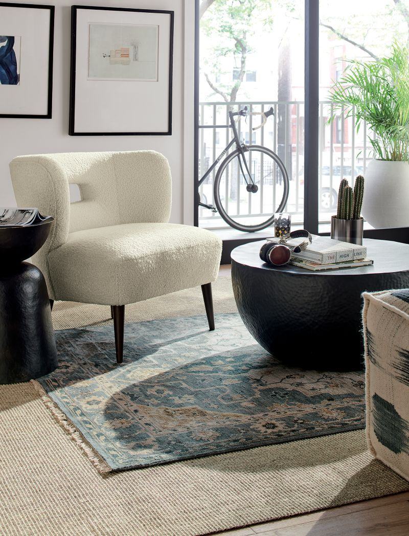 Nola Blue Persian Style Rug 5x8 Reviews Crate And Barrel In 2020 Rugs Decor Elegant Homes