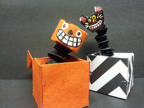 Vintage-esque Halloween Jack-in-the-boxes