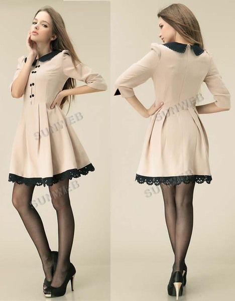 246a49ad89 moda coreana juvenil vestidos 2014 - Buscar con Google