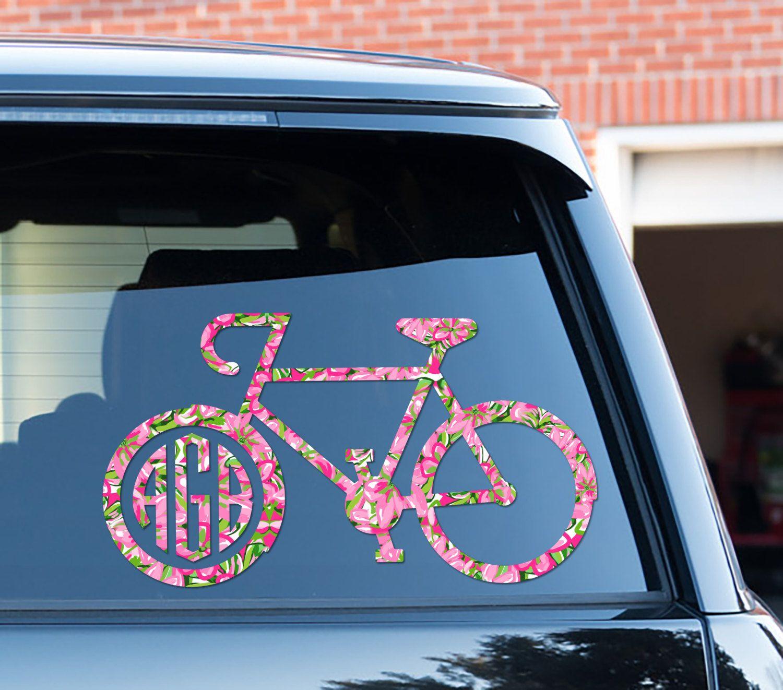 Bike Decal Custom Floral Car Decal Car Stickers Car Decor Cute Car - Custom vinyl decals bicycle