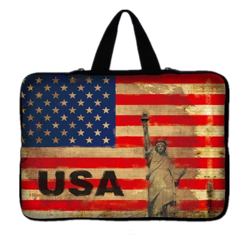 American Flag Notebook Bag Smart Cover For iPad Mac Book