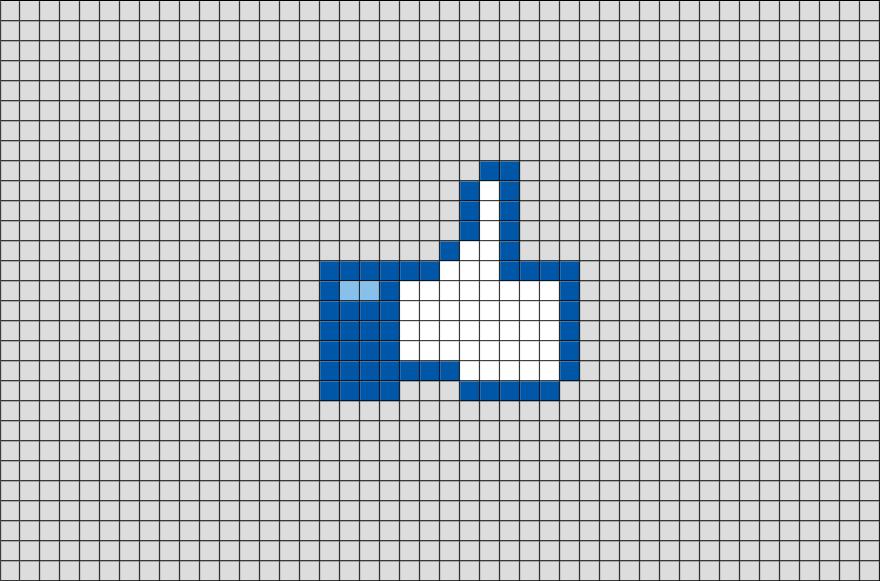 Facebook Like Button Pixel Art | Pinterest | Esquemas