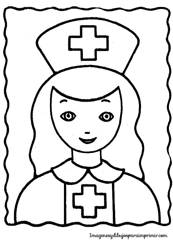 Dibujos De Enfermeras Para Colorear Enfermera Para
