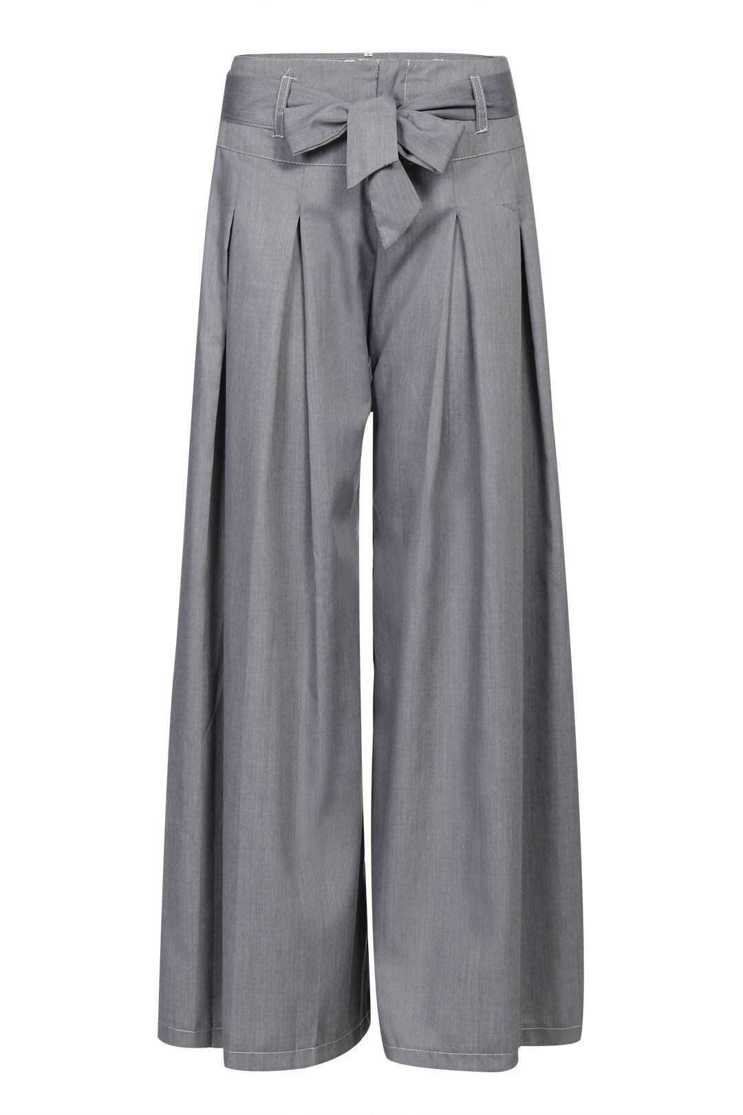 f8d1b2190c860 Grey Wide Leg Loose Trousers with Belt - US$25.95 in 2019 | Fall ...